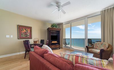 Photo for New Listing! Lovely oceanfront condo w/private balcony! 4 pools, hot tub, WiFi!