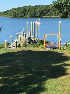 Photo for Waterfront cottage on salt pond with dock!