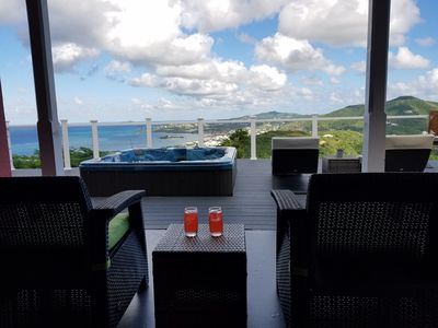 Photo for MILLION DOLLAR VIEW SET ATOP ONE ACRE OF CARIBBEAN SLENDOR