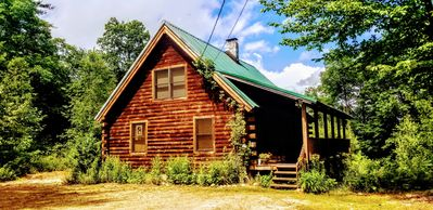 Photo for Private Log Chalet with Hot Tub, WiFi, Mountain Views. Pet Friendly! 5 STAR*****