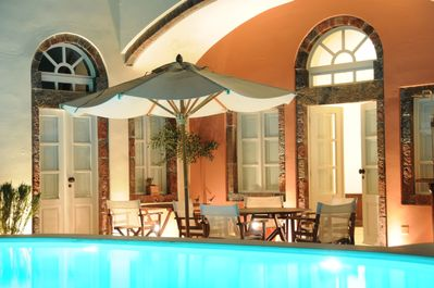 Grand Canava Main and West entrance by the pool. Ideal for al fresco dinning.