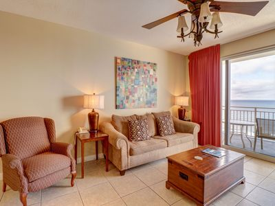 Photo for Charming beach view condo w/ shared pool, sundeck, grilling area, & gym