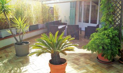 Photo for Spacious 4 rooms of 100m ², air-conditioned with terrace of 50m ² ²