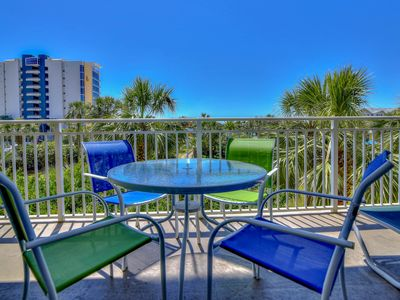 Photo for Exotic gulf view home with private balcony, shared pool and onsite amenities