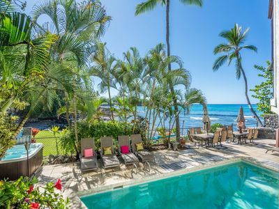 Oceanfront Kona  Private 5 Bed/5Bath Home w/ Pool & Spa and Elevator.