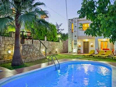 Photo for Holiday villa in Chania with private pool, beautiful views and large garden