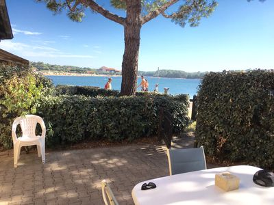 Photo for T3 RDC terrace of 28m ², sight, direct access on the marine lake 15 meters