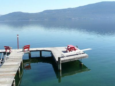 Photo for Executive Lakefront-Large Deck-Large Dock and Private Beach-Country Size Kitchen