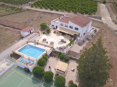 Photo for Stunning Villa with private saltwater pool and Tennis Court
