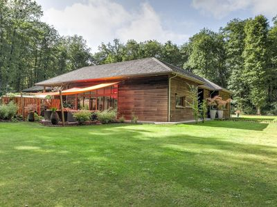 Photo for Luxurious villa in the forest with private indoor heated swimming pool, jacuzzi!
