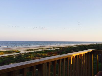 Beachfront Views from your front porch.  Watch the sunrise over the ocean