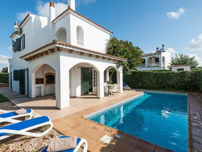 Photo for Located in a residential area close to the Hotel Saggitario Playa, within walking distance of a choice of bars, restaurants and shops, Villa Sunflower is a detached holiday home with private pool in the popular resort of Cala Blanca.