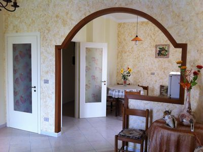 Photo for Comfortable apartment at 3km from the sea with garden parking and air conditioning