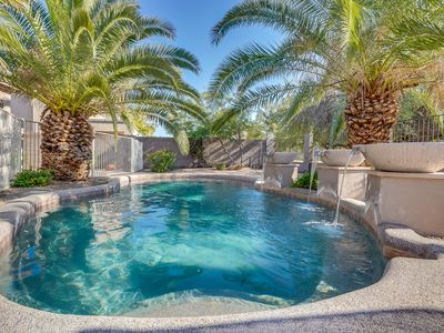 Photo for Scottsdale Oasis-Incredible backyard w/pool, firepit, playset! Summer Discounts!