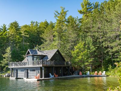 Photo for Luxury Cottage + Boathouse on Lake Joe! Pristine inside and out!