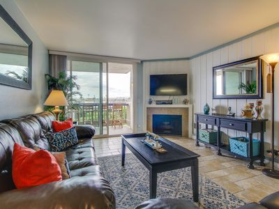 Photo for NEW LISTING! View the ocean and beach walk from condo w/ shared pool & hot tub!