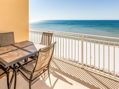 Photo for Gulf-front condo w/ beach views, balcony & shared pool/hot tub/gym/grills!