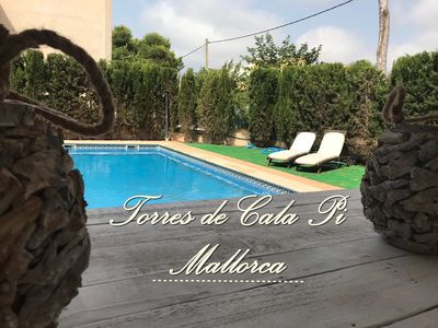 Photo for Torres de Cala Pi, 4 bedrooms, pool and parking very close to the beach ideal families
