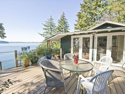 Vashon Waterfront:  Great Views of Forest & Sea - Cozy, Sunny, Seaside Cottage