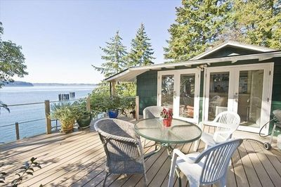 Private, sunny deck w/ great water views year around