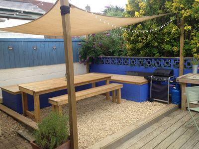 Outdoor eating area and BBQ