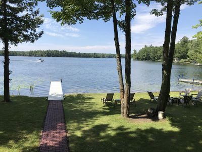 Photo for Beautiful bass lake retreat minutes to Traverse City.  Also booking for 2020