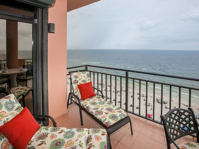 Photo for Beach Front Penthouse, Sleeps 6, Beach/Pool Now Open-Walk On Soft White Sand
