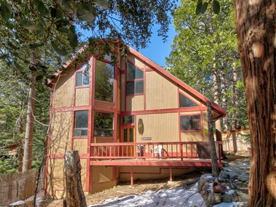 Photo for Spacious, dog-friendly cabin w/ private hot tub plus creek & mountain views