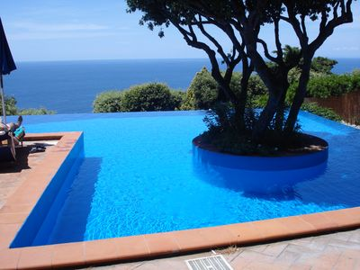 Photo for Relax and sea: one room with patio and pool