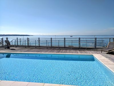 Photo for Roof Top Pool With Sea Views! Juan les Pins, large 1 bedroom