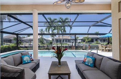 Photo for WATERLEAF COURT - Serene Southwest Exposure Waterfront Pool Home
