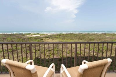 Enjoy the island breeze out on the private balcony!