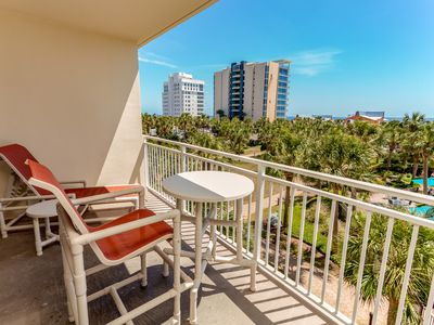 Photo for Comfortable and sleek home w/private balcony, wonderful Gulf views & more!