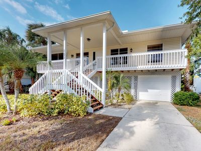 Photo for Breezy house w/ deck, screened porch & hammock - 1 block to the beach!