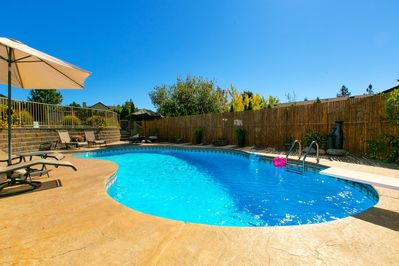 Beautiful seasonal pool just steps from Carraige Hs and Poolside Suite.
