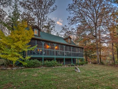"""Photo for Lamm's End Luxury Log Cabin   A """"Guest Centered"""" Spotless Get-Away!"""