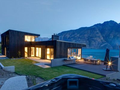 Photo for Contemporary luxury home with expansive lake views