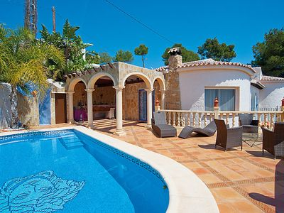 Photo for 3 bedroom Villa, sleeps 6 in Teulada with Pool and WiFi