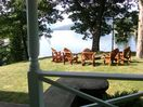 View from Adirondack chairs and south porch