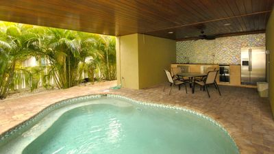 Photo for 4BR 3BA Water on Both Sides, PRIVATE Pool, FREE Trolley, WIFI and A Lot More