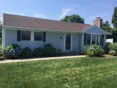 Photo for Charming 3-BR Cape in a private setting walkable to the beach and town!