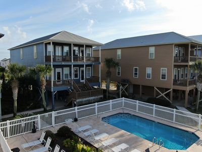 Photo for Bama Blue Beach House- 2 Pools, HotTub,Dock, Kayaks & Bikes! Sleeps 14