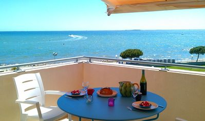 Photo for South France- Waterfront, roof top apart- Terraces- Direct access to beach