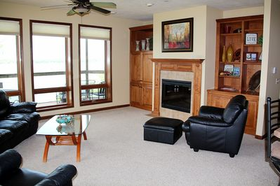Living Room , Fireplace, TV in Cabinet, Comfortable!