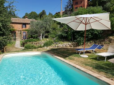 Photo for splendid garden with pool+peaceful+tranquillity and stunning view!