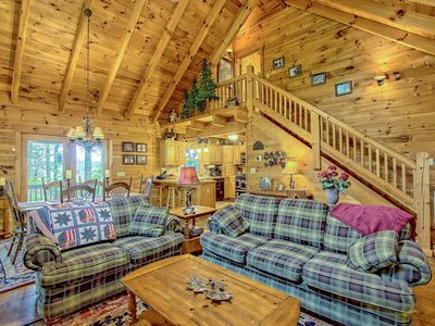 Photo for NEW LISTING! Secluded home on acreage w/hot tub, fireplace & wrap-around deck
