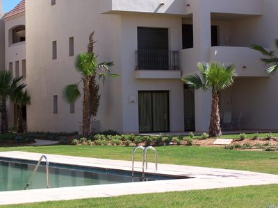 Photo for Ground Floor Poolside Apartment in Roda Golf and Beach