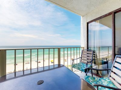 Photo for Beachfront rental with resort pools, hot tub and fitness center