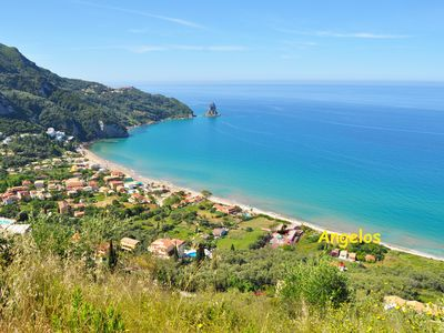 "Photo for Holiday homes on Corfu ""Angelos"" on Agios Gordios beach"