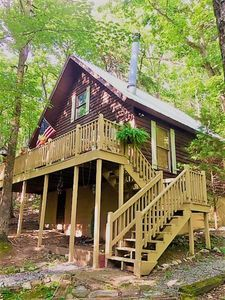 Photo for Cradled by a Canopy of trees! HOT TUB! Fire Pit! 4 Private Acres! See our video